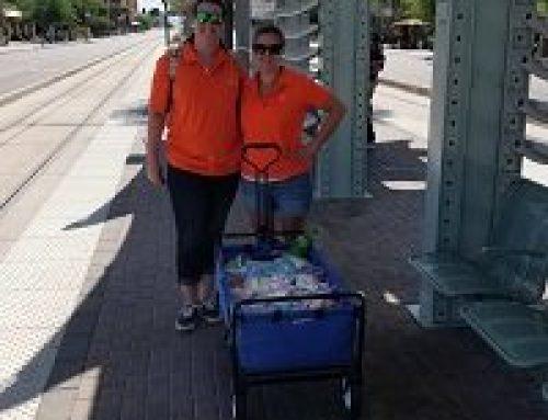 Distributing Good Samaritan Bags